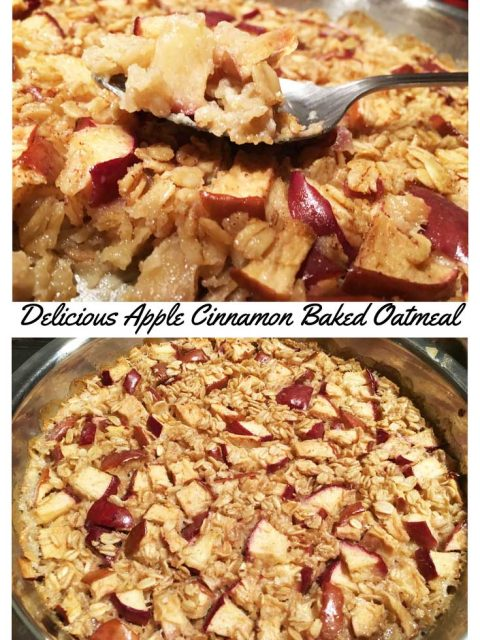 Easy Baked Apple Oatmeal Recipe