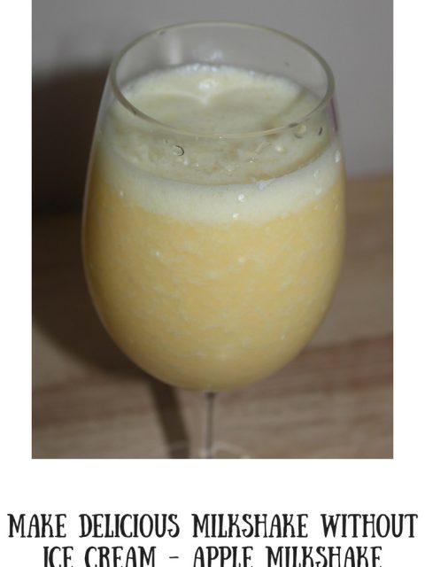 apple milkshake recipe without ice cream