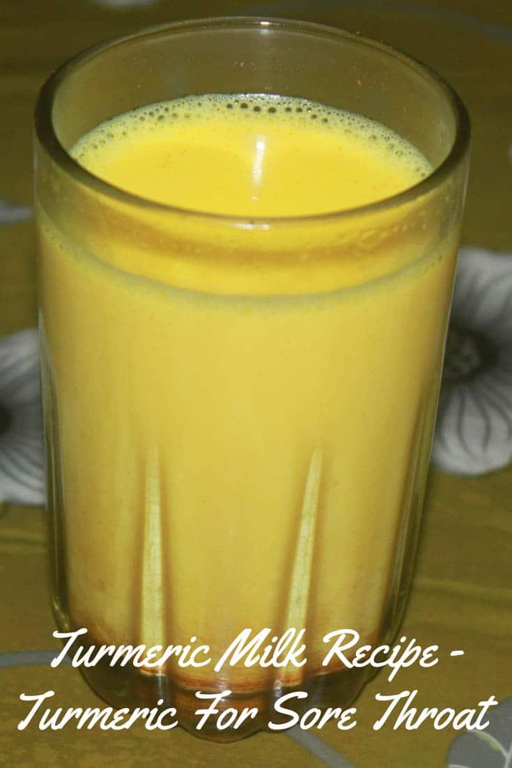 turmeric for sore throat