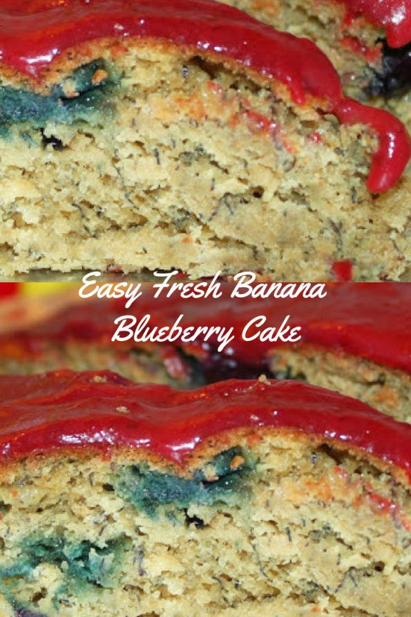 banana blueberry cake recipe