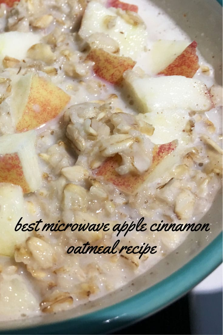 Best Microwave Oatmeal Recipe – Cinnamon Apple Microwave Oatmeal Recipe