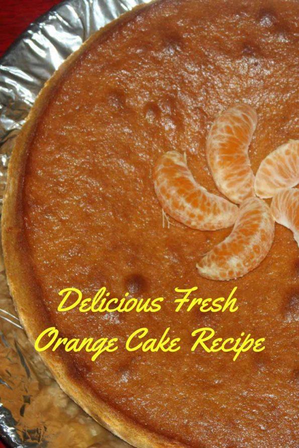 homemade orange cake recipe scratch
