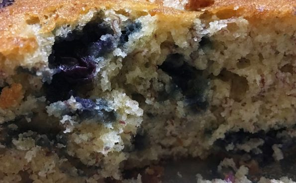 how to make banana blueberry cake