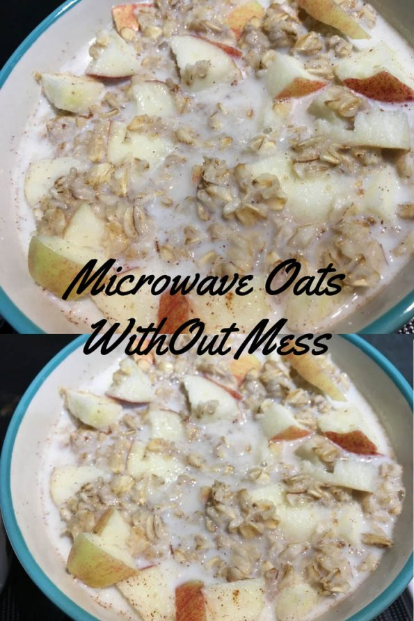 how to microwave oatmeal without boiling over