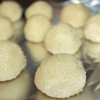 rava ladoo recipe without coconut