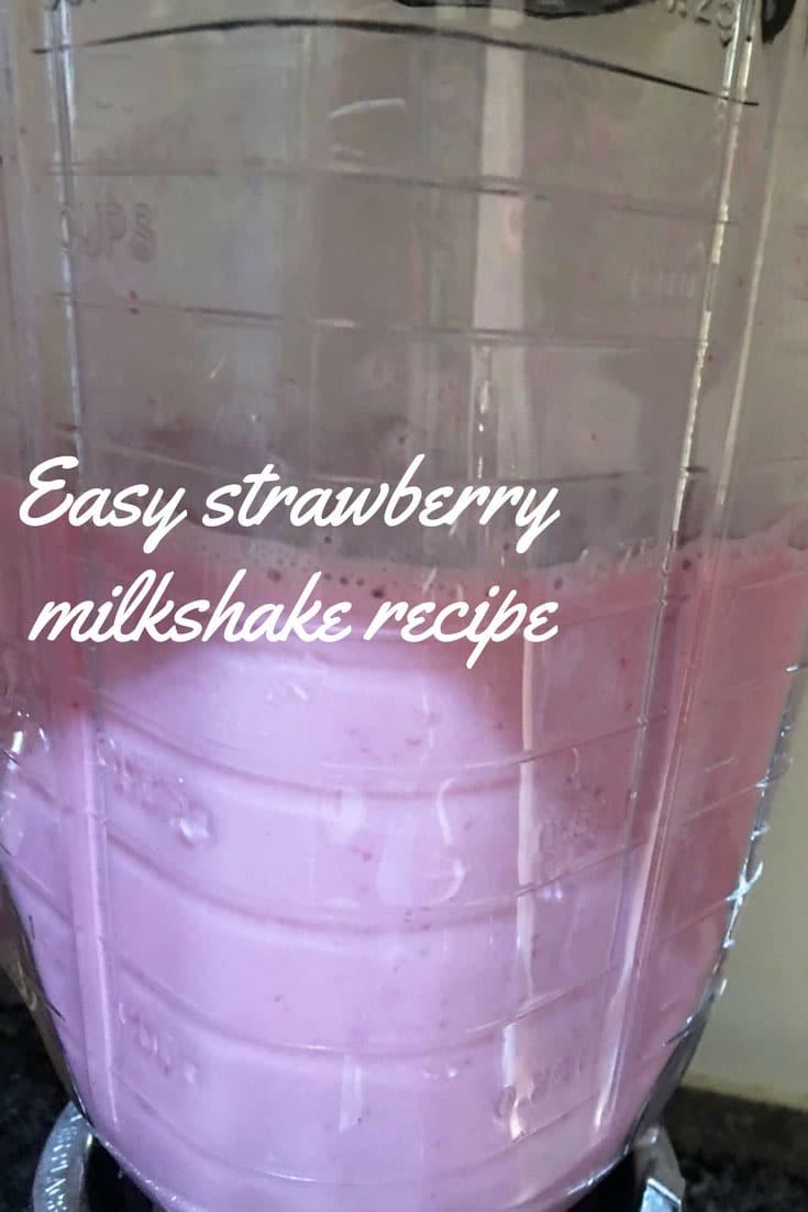 simple strawberry milkshake recipe