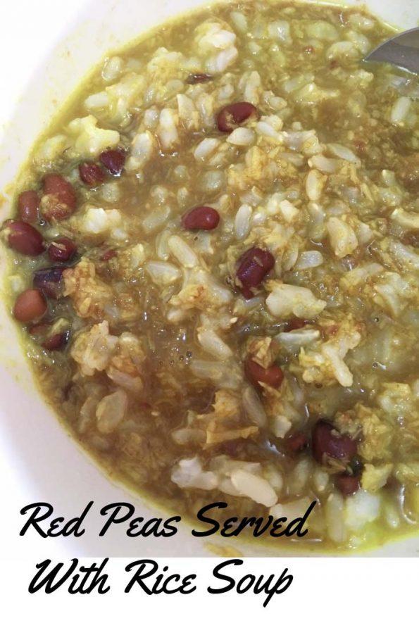 vanpayar thoran kanji rice soup