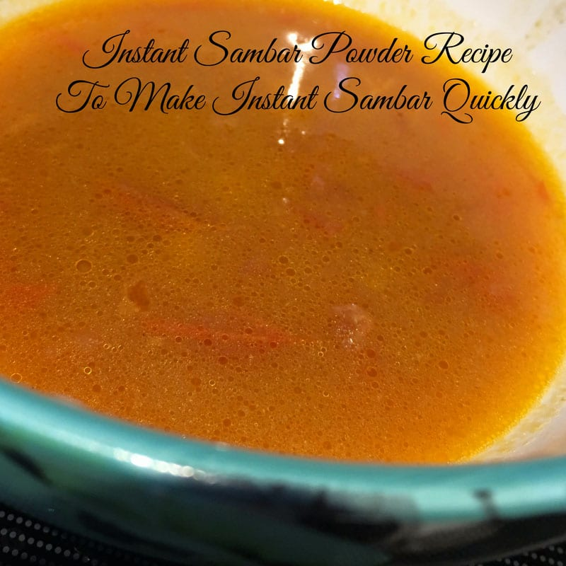 easy sambar powder recipe