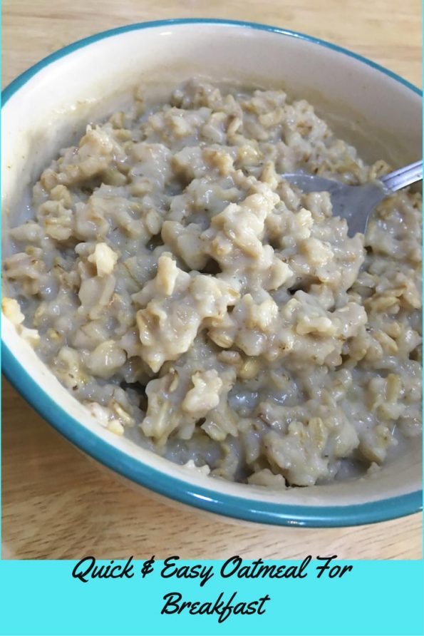 basic microwave oatmeal recipe