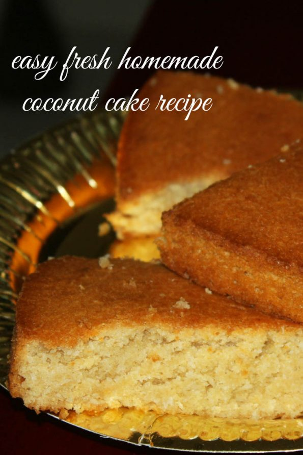 easy homemade coconut cake recipe image