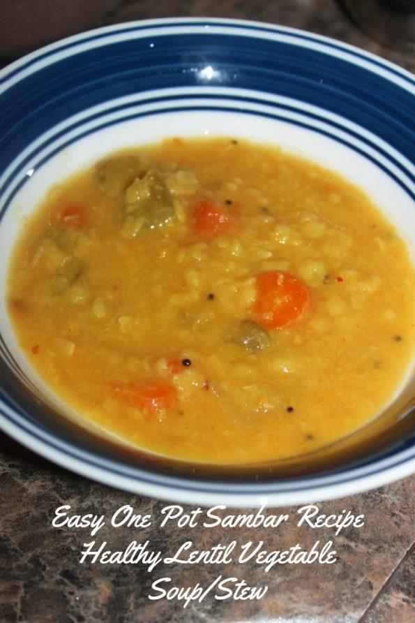 easy sambar recipe in pressure cooker one pot