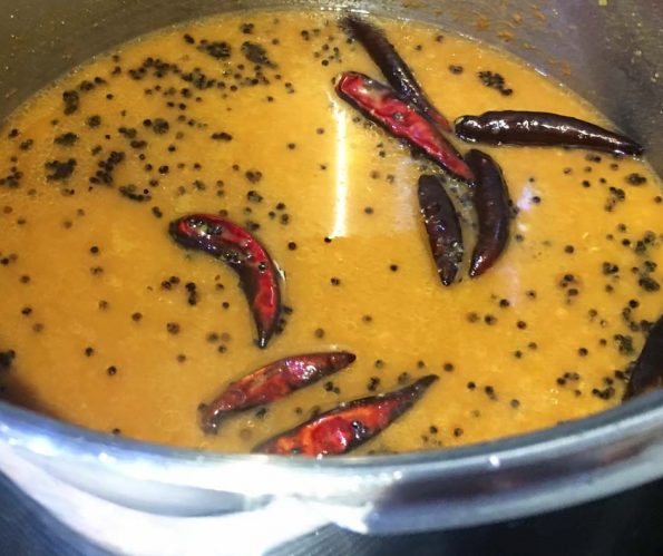 easy sambar without vegetables for rice