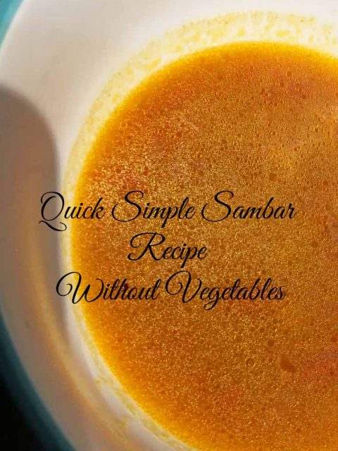 easy simple sambar recipe without vegetables