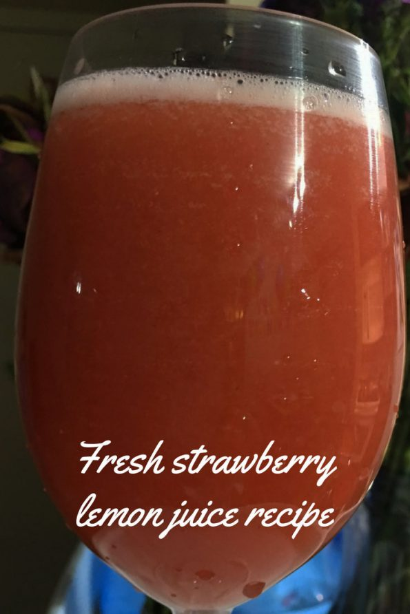 fresh strawberry lemon juice recipe