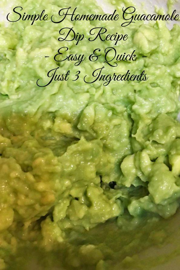 make simple guacamole dip recipe image