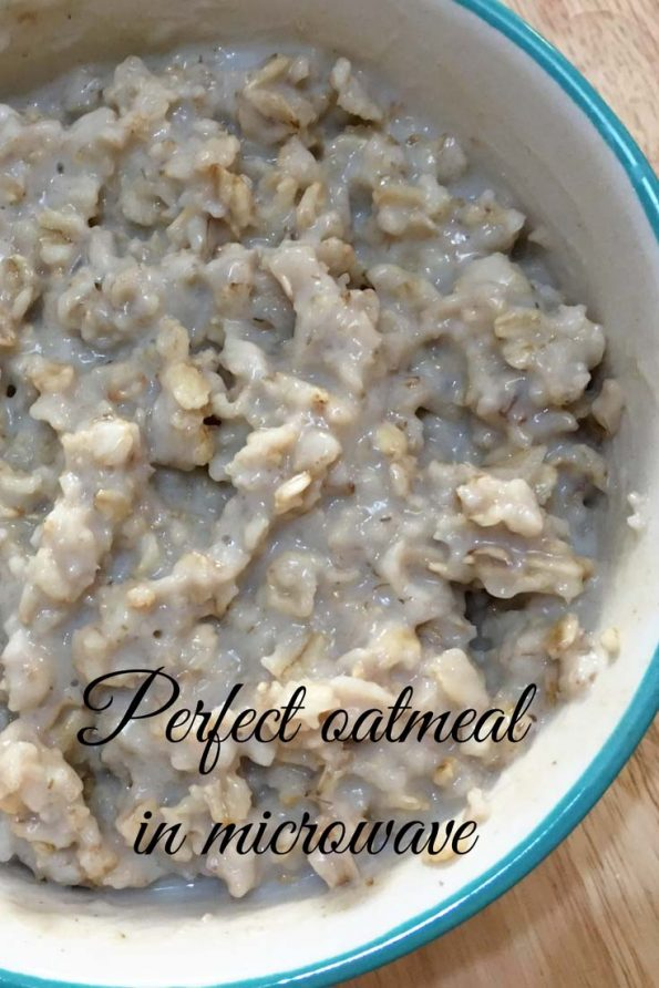 microwave oatmeal recipe basic