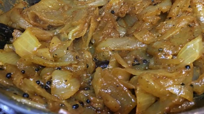 onion curry for chapathi
