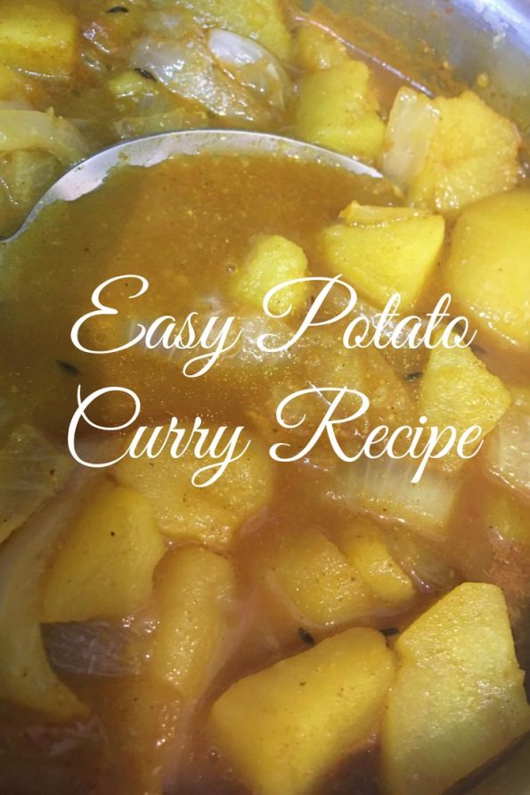 potato curry for chapathi without coconut