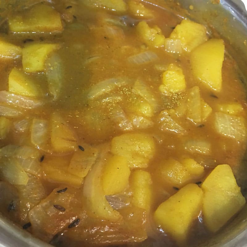 potato curry for chapathi