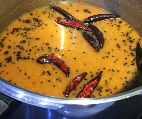 quick sambar without vegetables for tiffin rice