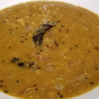 sambar without vegetables indian
