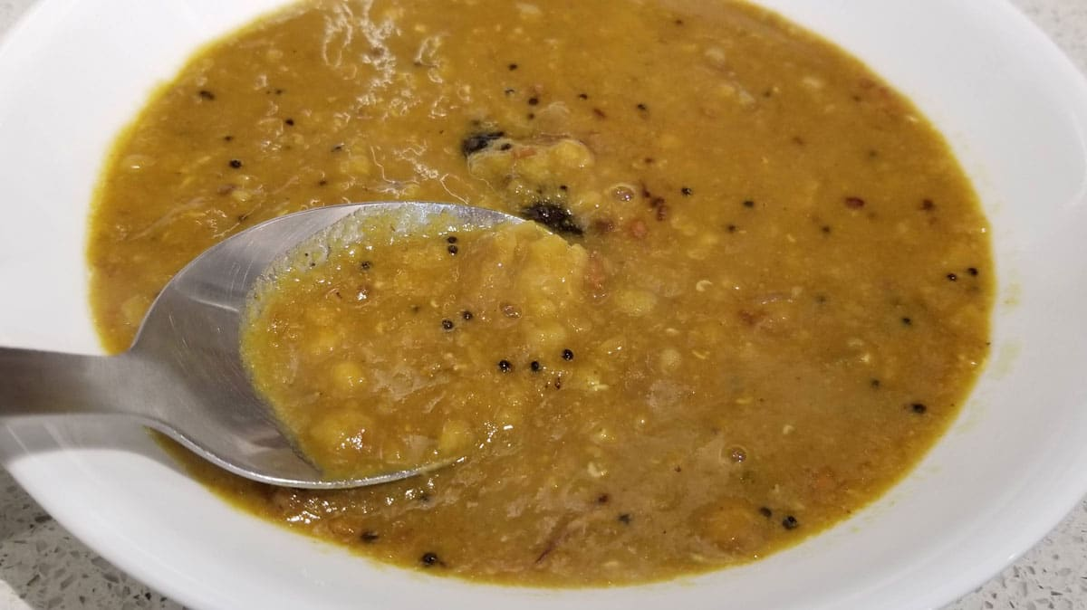 sambar without vegetables
