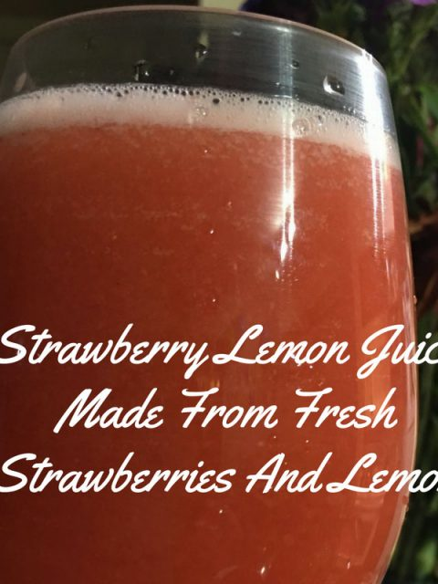 strawberry lemon juice recipe photo