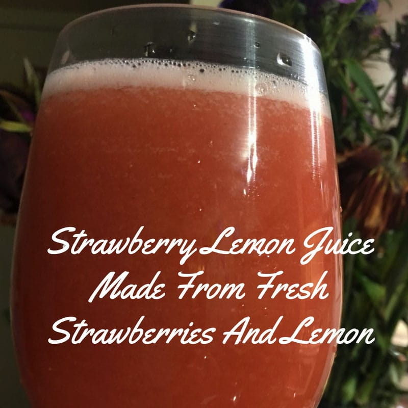 Strawberry Lemon Juice Recipe – Strawberry Juice Recipe With Strawberries And Lemon Juice