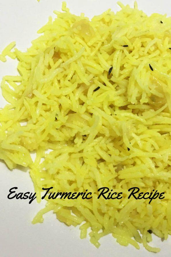yellow rice recipe with turmeric image