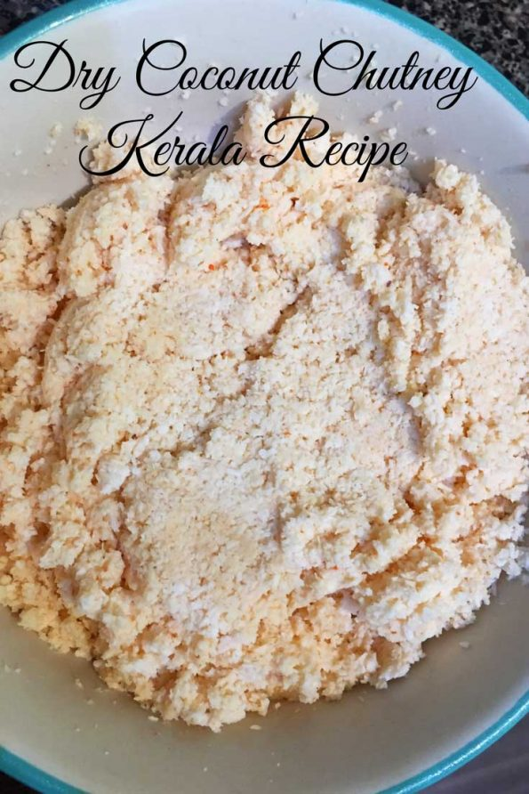 Dry Coconut Chutney for rice dosa idli