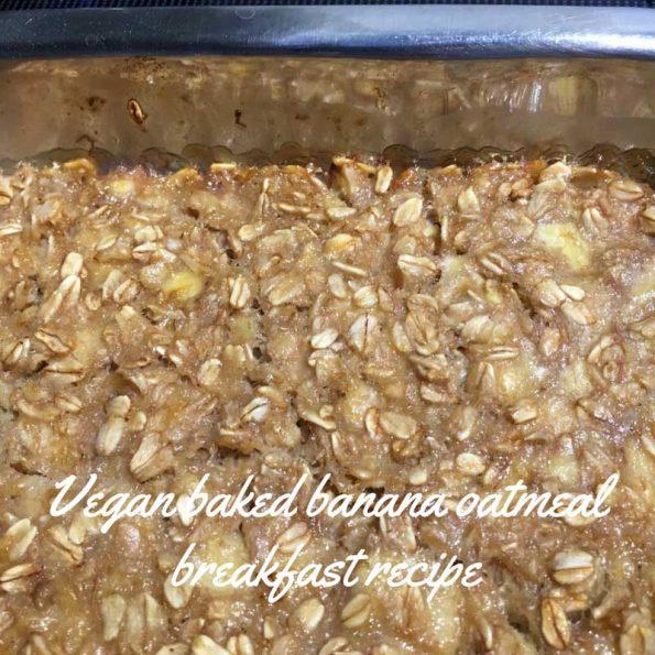 Vegan baked oatmeal recipe breakfast