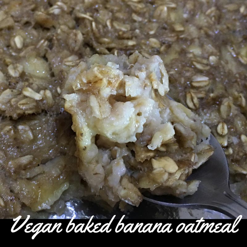 Vegan Baked Oatmeal Recipe With Bananas & Coconut Milk – Easy & Healthy Baked Oatmeal Recipe