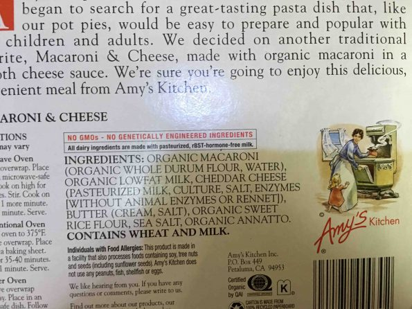 amy's kitchen mac and cheese review