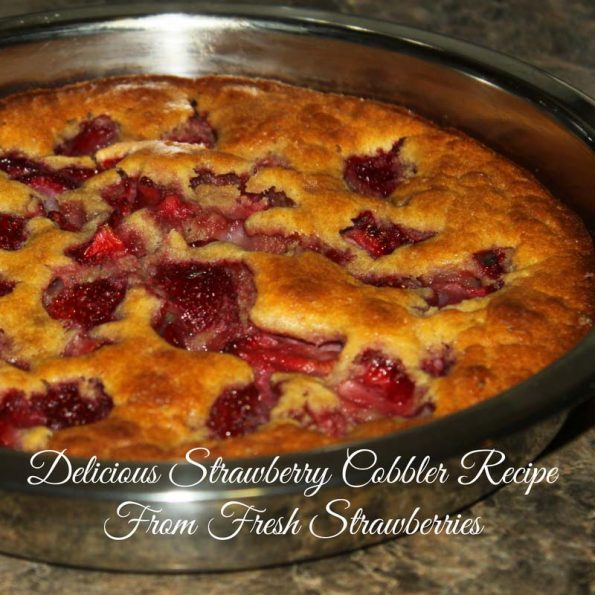best strawberry cobbler recipe easy