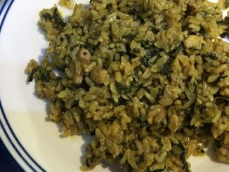 brown rice spinach recipe