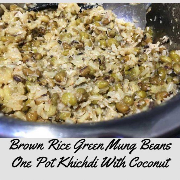 green moong dal brown rice kitchari recipe