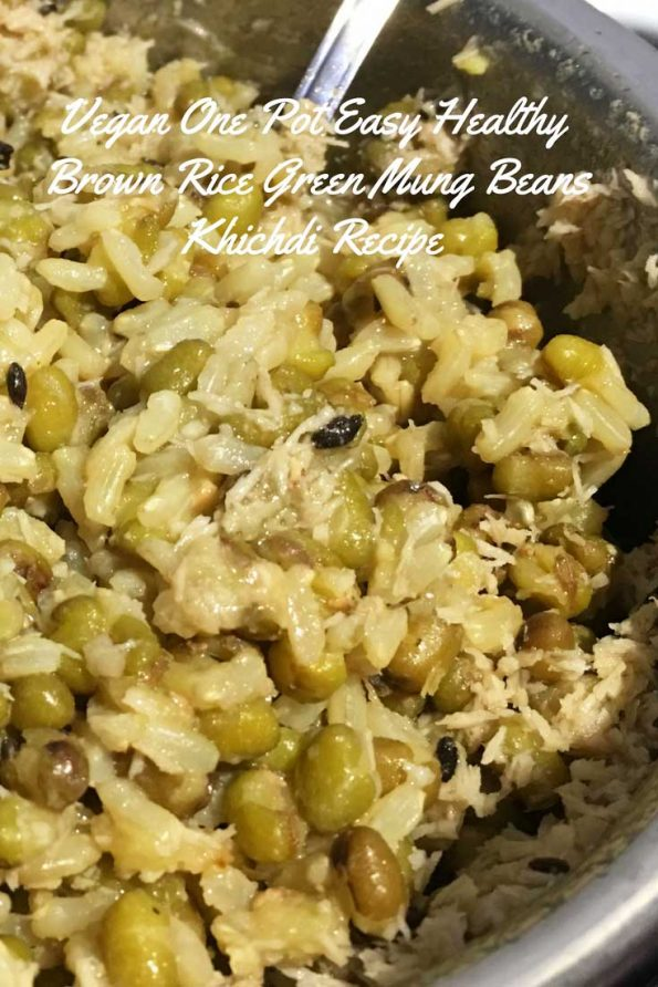 healthy brown rice kitchari recipe green moong dal khichdi