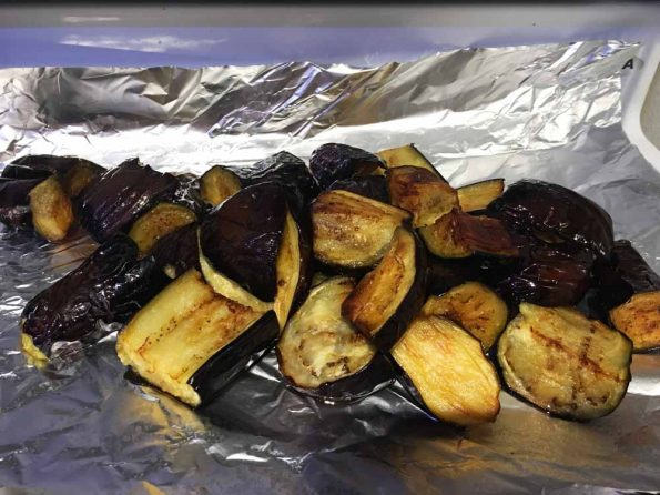 deep fried eggplant brinjal aubergine pieces