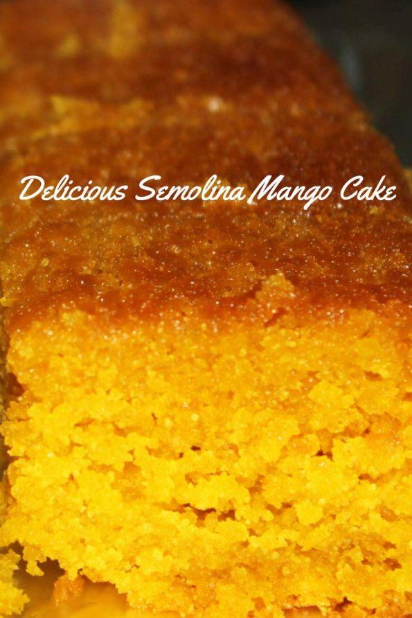 easy mango cake recipe semolina flour