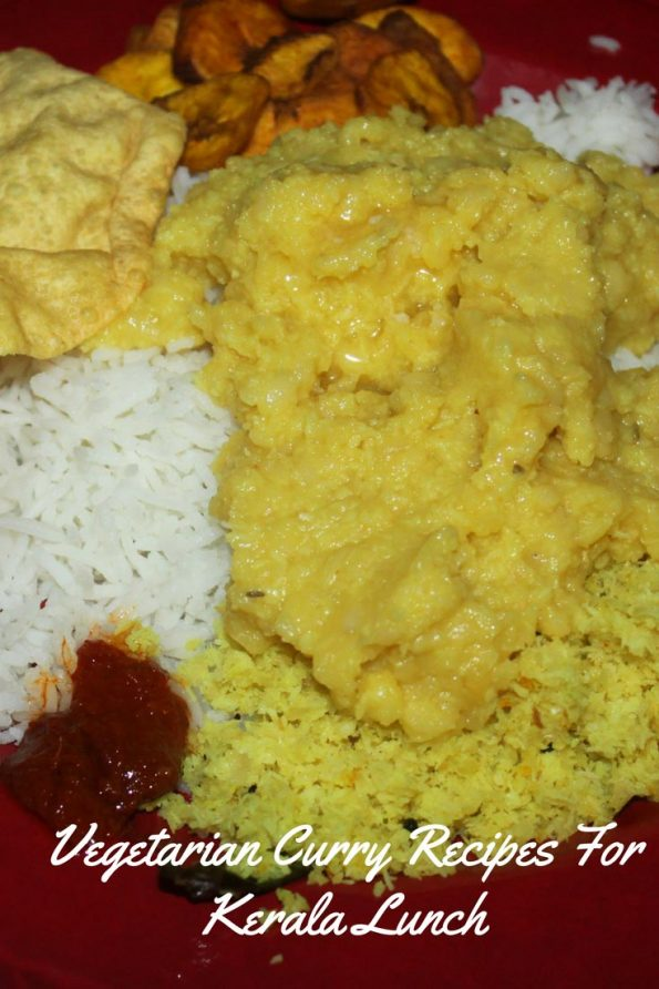 kerala vegetarian curry recipes for lunch dinner
