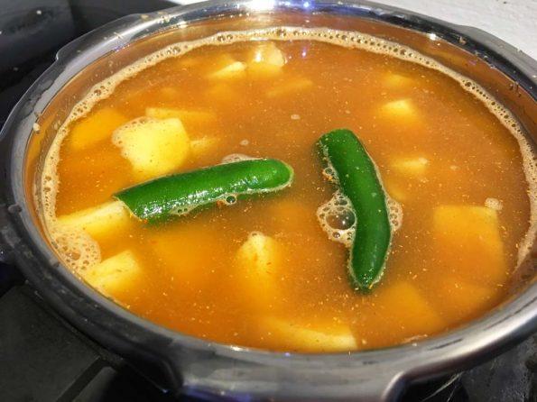 make potato sambar for lunch