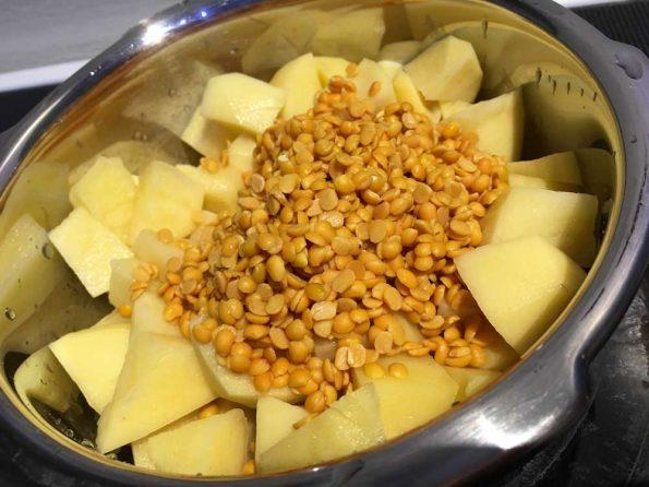 make potato sambar for rice dosa idli