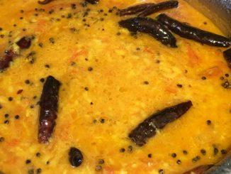 moong dal sambar for rice dosa idli