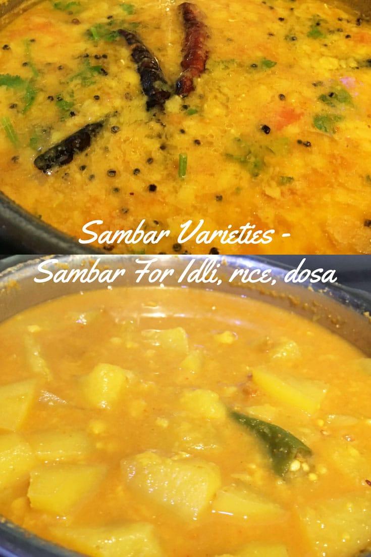 sambar for idli dosa rice lunch sambar varieties recipes