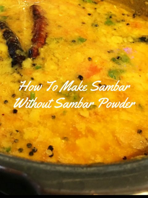 sambar recipe without sambar powder beginners