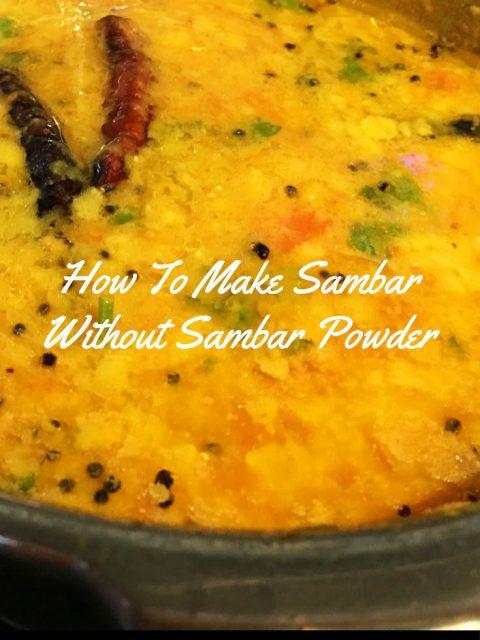 sambar recipe without sambar powder beginners
