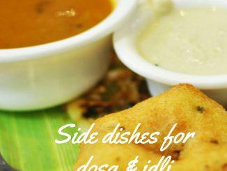 side dish for dosa idli recipe