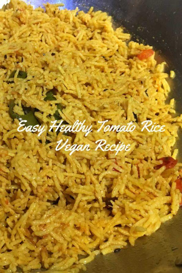 tomato rice vegan dinner recipe