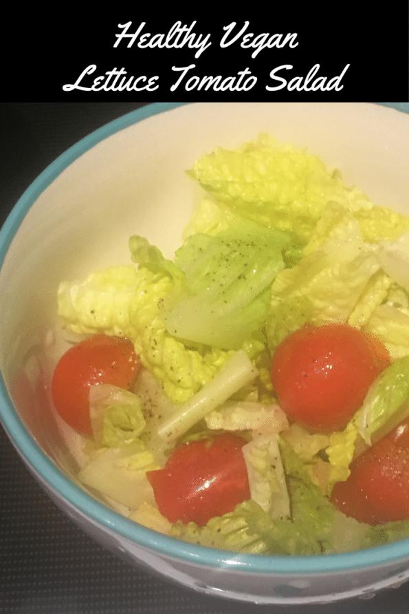 Healthy Vegan Lettuce Tomato Salad