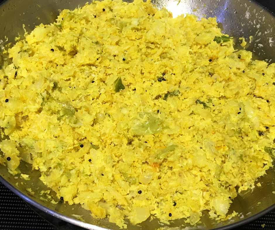 cabbage thoran kerala style recipe